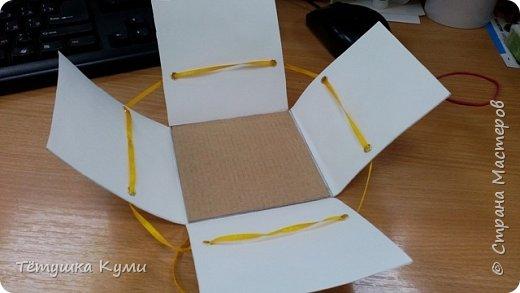 Итак, рабочие моменты в покое не оставляют.  Озадачили меня проведением мастер-класса для умненьких  рукодельных деток. Что у нас ближайшая дата? Правильно -  День учителя. И ещё Осень. Спасибо бездонным закромам СМ - я нашла от чего танцевать.  Решено - делаем magic box, или коробочку с сюрпризом. Идей было много, в итоге было найдено решение, чтобы  научить детей категории 10+ хоть чему-то. Отдельное спасибо понятному МК - вышла повторюшка с коррективами. http://stranamasterov.ru/node/364822?c=favorite фото 3