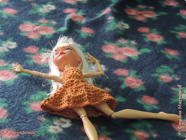 Привет, СМ! Сегодня я покажу вам новое платье для Севы. Его я связала ещё вчера, он просто рука не доходила. фото 3
