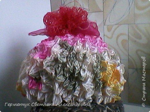 Цветок из ткани оригами фото 3