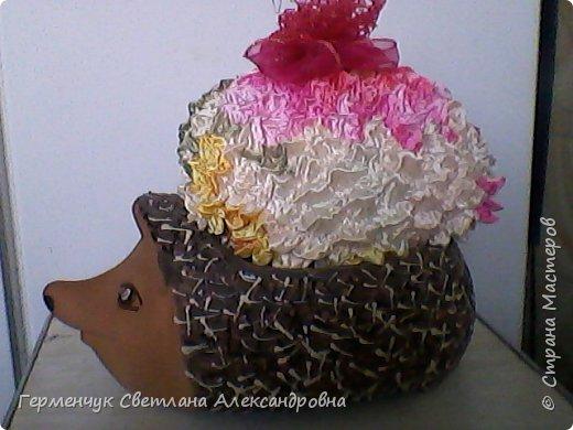 Цветок из ткани оригами фото 1