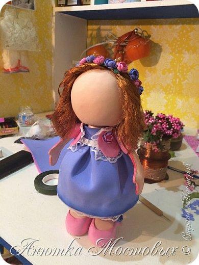 Вот такая интерьерная куколка у меня получилась) насмотрелась в интернете модных сечас кукол, обычно их шьют, а я решила сделать из фома;) фото 5