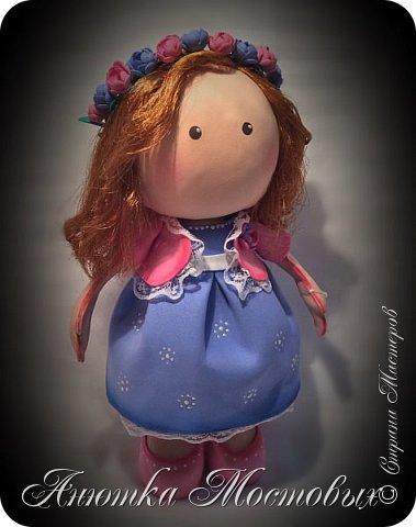Вот такая интерьерная куколка у меня получилась) насмотрелась в интернете модных сечас кукол, обычно их шьют, а я решила сделать из фома;) фото 3