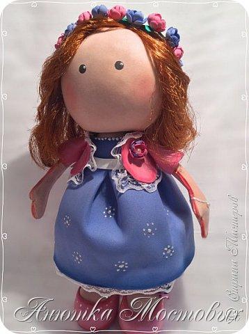 Вот такая интерьерная куколка у меня получилась) насмотрелась в интернете модных сечас кукол, обычно их шьют, а я решила сделать из фома;) фото 4