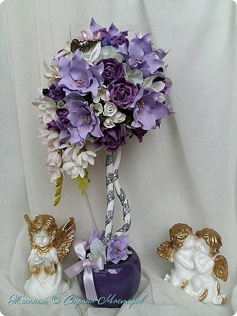 Цветы из фоамирана сделаны в ручную. фото 1