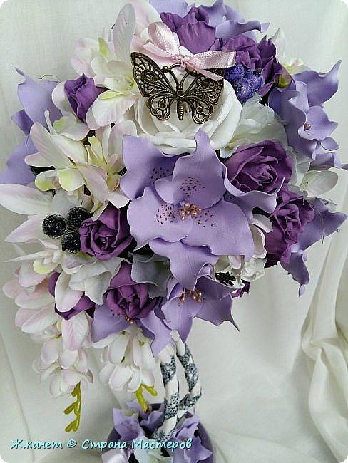 Цветы из фоамирана сделаны в ручную. фото 4
