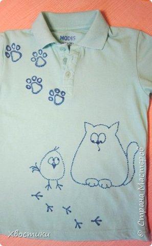 Дорогие мамочки, этот пост для вас! Если любимая футболка вашего ребятёнка испорчена пятнышками, которые не отстирываются (бывает и такое!), то не стоит от неё отказываться. фото 4