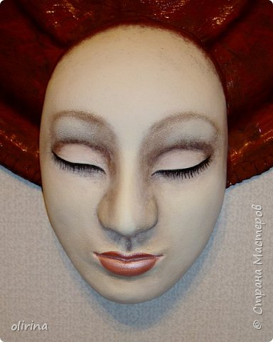 Добрый день Мастера.Закончила очередную маску.В этот раз решила с закрытыми глазами попробовать. фото 10