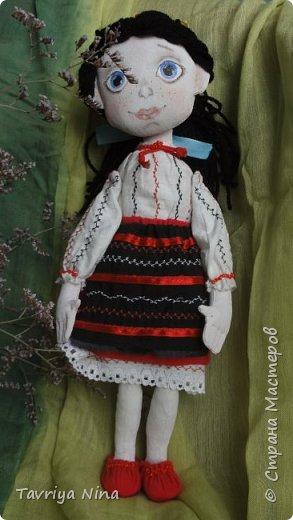 Для этой куклы я сделала два варианта головы,т.к. первый не соответствовал ей по размерам туловища.  фото 9