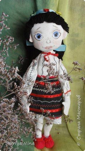 Для этой куклы я сделала два варианта головы,т.к. первый не соответствовал ей по размерам туловища.  фото 10