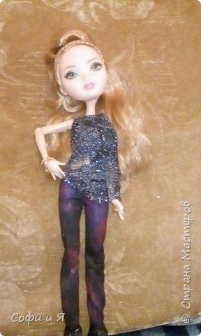 """Приветик всем!!!23 сентября была днюха,и подарили мне эту красавицу Эшлин Эллу!! Давно ее хотела.Сшилась ей кофточка """"модная""""))) фото 1"""