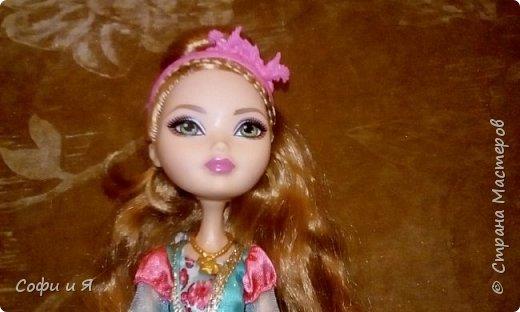 """Приветик всем!!!23 сентября была днюха,и подарили мне эту красавицу Эшлин Эллу!! Давно ее хотела.Сшилась ей кофточка """"модная""""))) фото 7"""