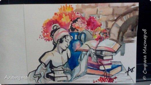 """Рисунок в блокноте"""" Муза для Осени"""" фото 1"""