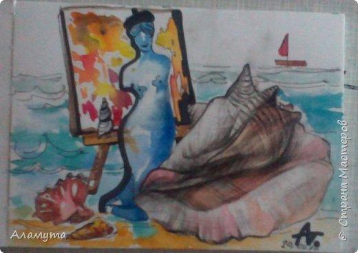"""Рисунок в блокноте"""" Муза для Осени"""" фото 15"""
