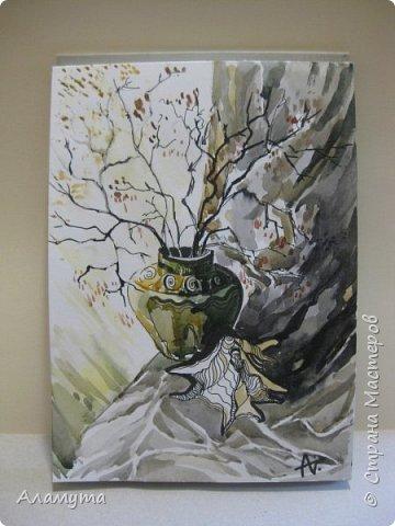 """Рисунок в блокноте"""" Муза для Осени"""" фото 3"""