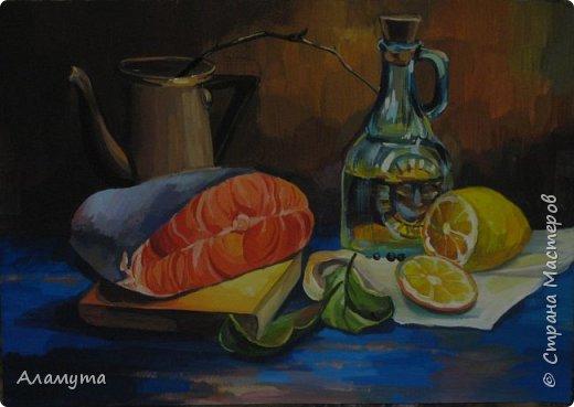 натюрморт с рыбой  фото 6