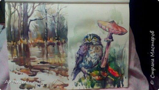 """Рисунок в блокноте"""" Муза для Осени"""" фото 6"""