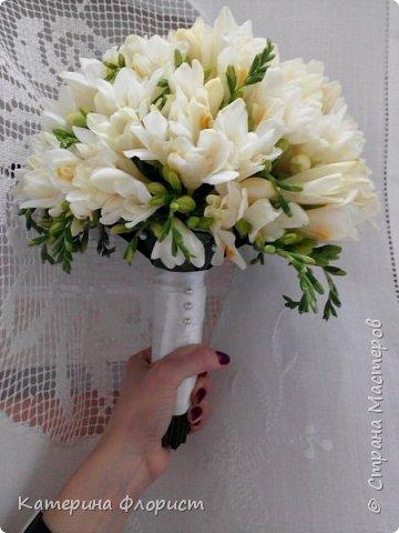 Свадебные букеты (мои работы) фото 33