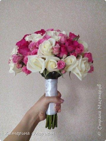 Свадебные букеты (мои работы) фото 34