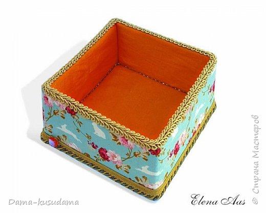 Сделала коробочки на подарки для себя и своей семьи.Муж считает, что подобные коробочки у шейхов в кабинетах. Поэтому так и назвала наборчик. Коробки сделаны их картона, обклеены тканью,тесьмой и дно -материал типа резины.  фото 7