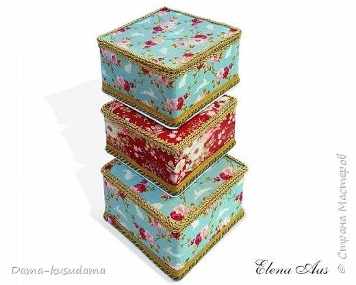 Сделала коробочки на подарки для себя и своей семьи.Муж считает, что подобные коробочки у шейхов в кабинетах. Поэтому так и назвала наборчик. Коробки сделаны их картона, обклеены тканью,тесьмой и дно -материал типа резины.  фото 11