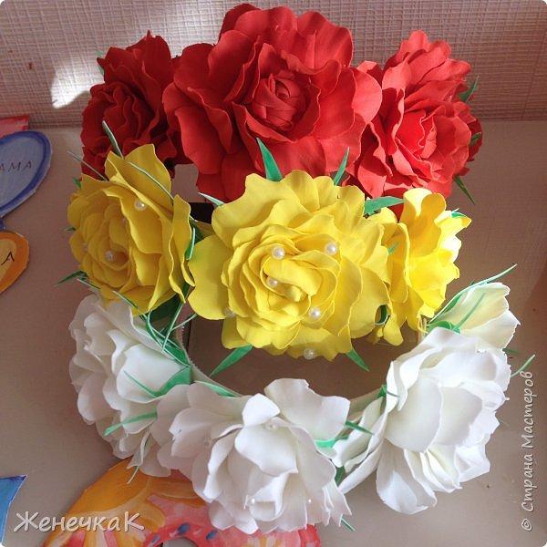 Ободочки девочкам для фотосессии. Ссылка на мк  по розам http://stranamasterov.ru/node/270854?c=favorite фото 1
