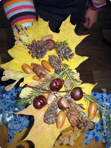 Осень, время поделок из природного материала...  Ёжик у пенька с грибами. В основе пенька пластиковый стаканчик от мороженого, и облеплен пластилином, мох; ёжик - киндер обмазан пластилином и украшен семенами подсолнечника; грибы (должны были быть опята, из палочек и шляпок от желудей, но в виду их отсутствия вышли другие грибочки) - березовые палочки, пластилин и скорлупа грецких орехов; в основании всей композиции диск компьютерный. фото 28