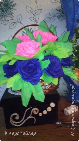 корзина с розами фото 2