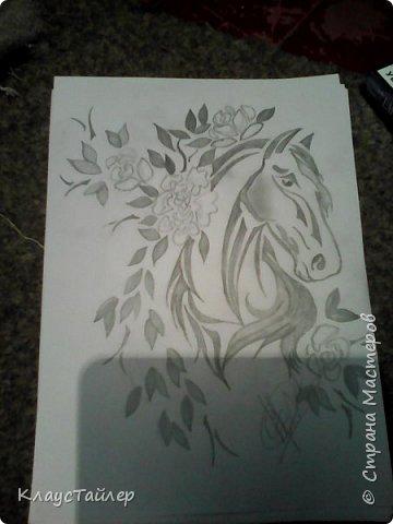 Вот такая лошадяка из трех цветов шпагата фото 9