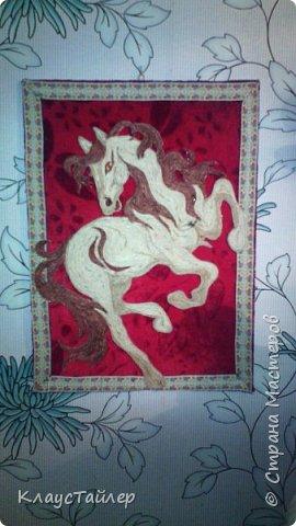 Вот такая лошадяка из трех цветов шпагата фото 1