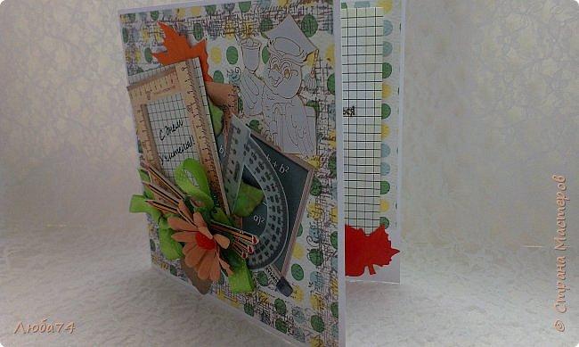 Всем, доброго дня! Давно хотела сделать открытки в осеннем стиле, с осенними листочками. И вот, моя мечта осуществилась! Предлагаю посмотреть три мои новые открытки к Дню Учителя. Размер открыток 15х15 см. фото 38