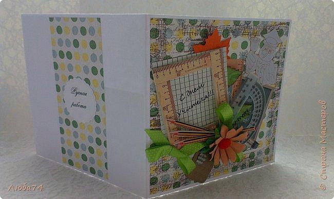 Всем, доброго дня! Давно хотела сделать открытки в осеннем стиле, с осенними листочками. И вот, моя мечта осуществилась! Предлагаю посмотреть три мои новые открытки к Дню Учителя. Размер открыток 15х15 см. фото 40