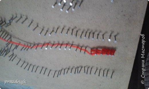 Картина из ниток и гвоздиков фото 4