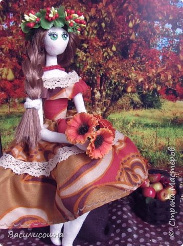 Текстильная кукла Злата фото 2