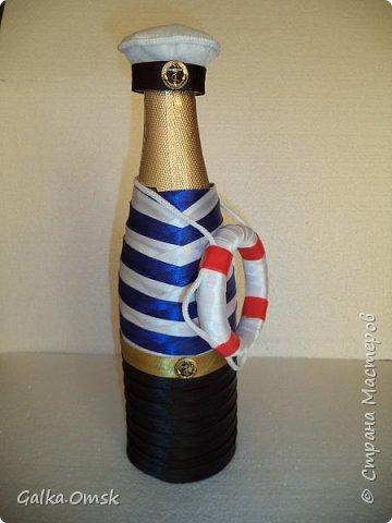 Одёжка на бутылку в подарок повару .Вилки и ложки - пластиковые фото 13
