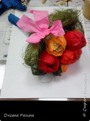 Конфетный букетик фото 7