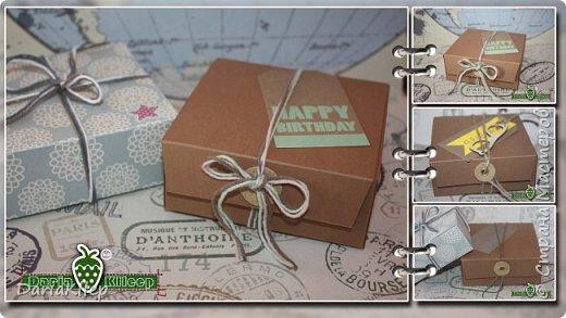 Стильная коробочка для подарка из листа А4 фото 1
