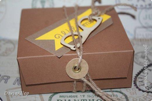 Стильная коробочка для подарка из листа А4 фото 3