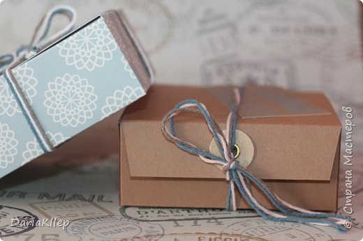 Стильная коробочка для подарка из листа А4 фото 2