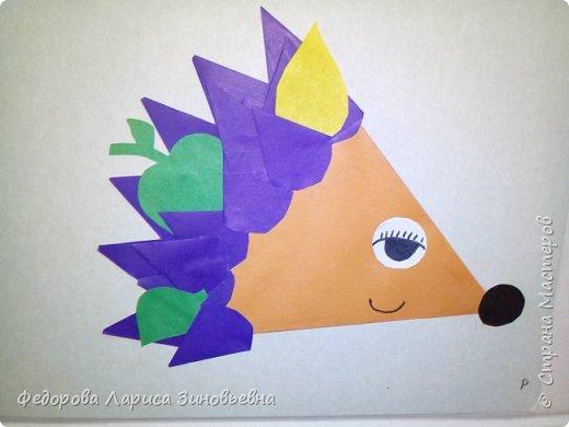 Добрый день всем жителям Страны Мастеров. Продолжаем осеннюю тематику. На этот раз мы сделали со своими учениками вот таких ежиков в технике оригами. фото 2