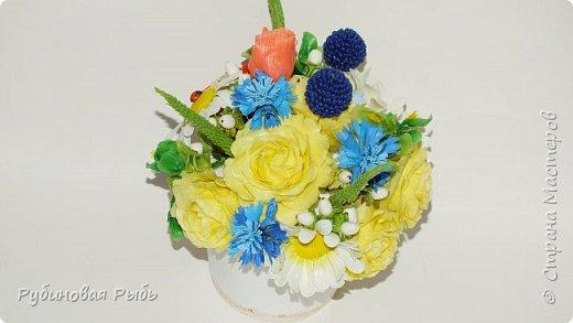 Ура Ура Ура , ликую и спешу похвастаться что получилось у меня сделать по МК Инны Голубевой  http://stranamasterov.ru/node/1036570 желтые садовые розы и васильки там же взяты ))) http://stranamasterov.ru/node/1032565 фото 1