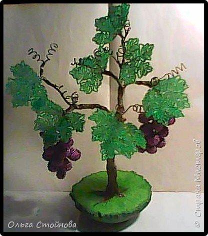 Виноградное дерево из бисера фото 2