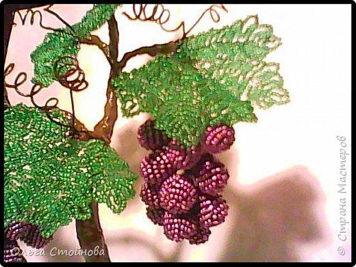 Виноградное дерево из бисера фото 4