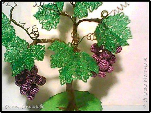 Виноградное дерево из бисера фото 5