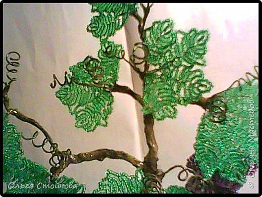 Виноградное дерево из бисера фото 6