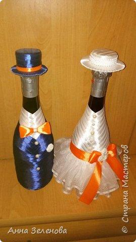 Декор бутылочек (жених и невеста)