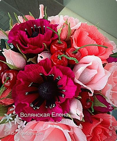 А вот и анемоны..очень интересно их делать,несложно и результат впечатляет,очень красивые цветы А навеяло сделать эту работу-вдохновившись работами моего кумира-Ларисы Тепляковой фото 1