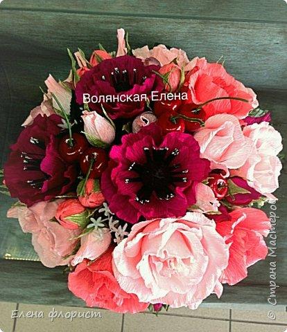 А вот и анемоны..очень интересно их делать,несложно и результат впечатляет,очень красивые цветы А навеяло сделать эту работу-вдохновившись работами моего кумира-Ларисы Тепляковой фото 3