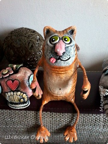 """Доброго времени суток,Страна Мастеров!Я уже наверное как назойливая муха со своими рукоделками.Ну вот опять налепились,накрасились мои творения.Кот,кот называется""""Дай, поцелую""""... фото 1"""