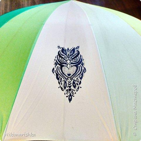 Рисуем на зонтике