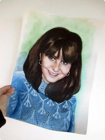 Портрет для моей постоянной заказчицы, красивой и очень приятной женщины! Акварель. Формат А3 фото 2